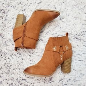 NWT Qupid Embroidered Ankle Boots